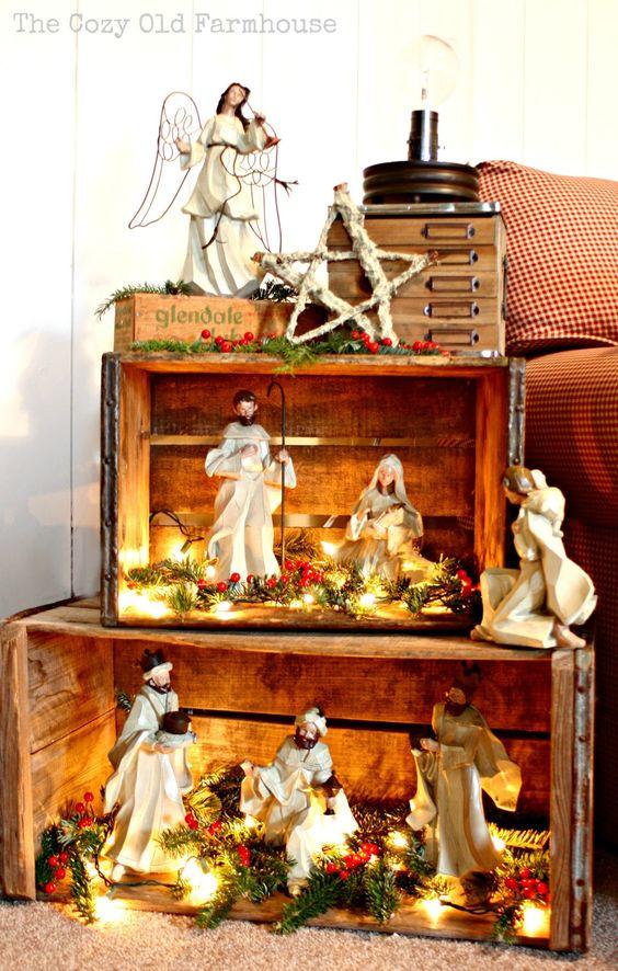 Molto Idee natalizie con pallet e cassette di legno! Ecco 20 DA63