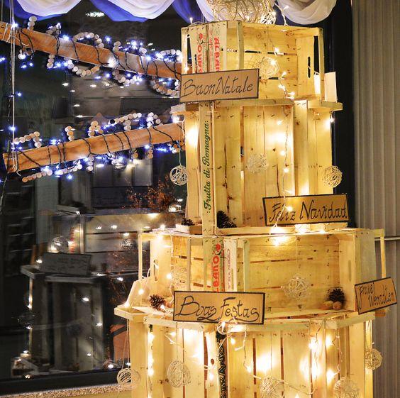 Idee natalizie con pallet e cassette di legno ecco 20 for Premiato design di casette