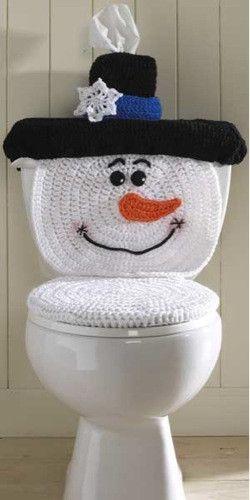Dekorieren Sie Die Toilette Für Weihnachten
