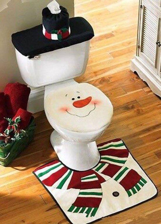 Decorazione toilette per natale