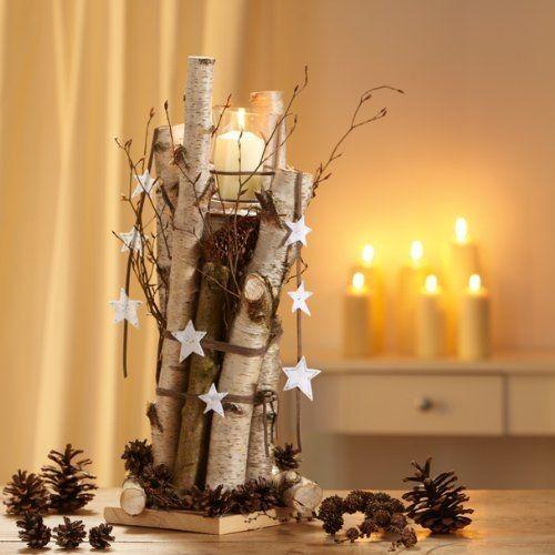Decorazioni natalizie con tronchi e rami 20 idee creative - Rami decorativi natalizi ...