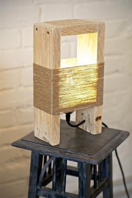 Creare un lampadario o una lampada con i bancali ? Idea n? 17
