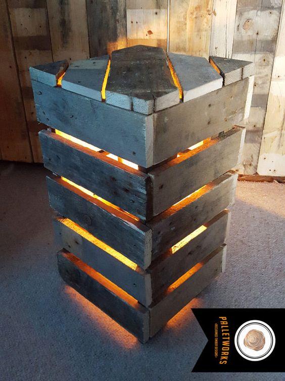 Creare un lampadario o una lampada con i bancali ? Idea n? 7