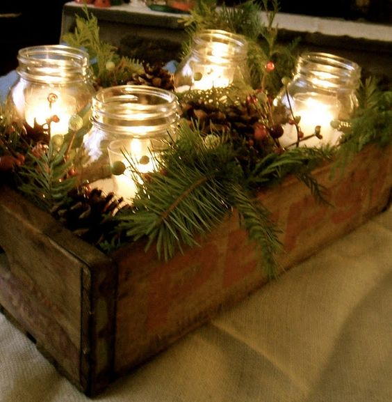 Risultati immagini per barattoli di vetro natalizi