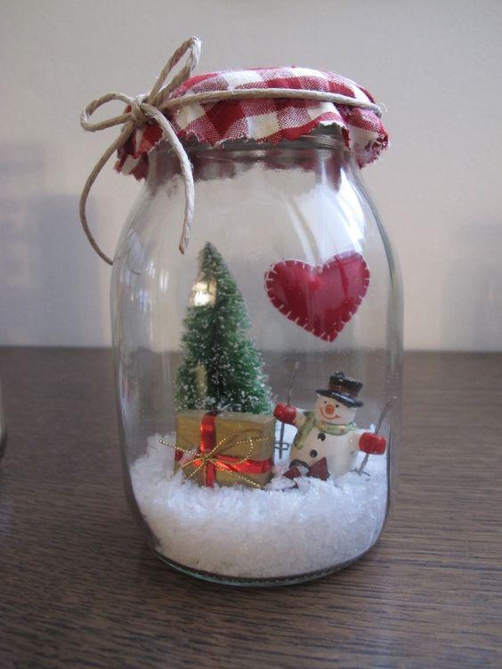 Riciclare i barattoli di vetro per decorare a Natale! 20 idee...