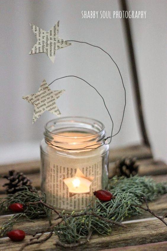 Riciclare i barattoli di vetro per decorare a natale 20 - Decorare lanterne ...