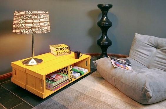 tavolino fai da te legno : Bellissimi tavolini fai da te con cassette di legno! 20 idee da cui ...