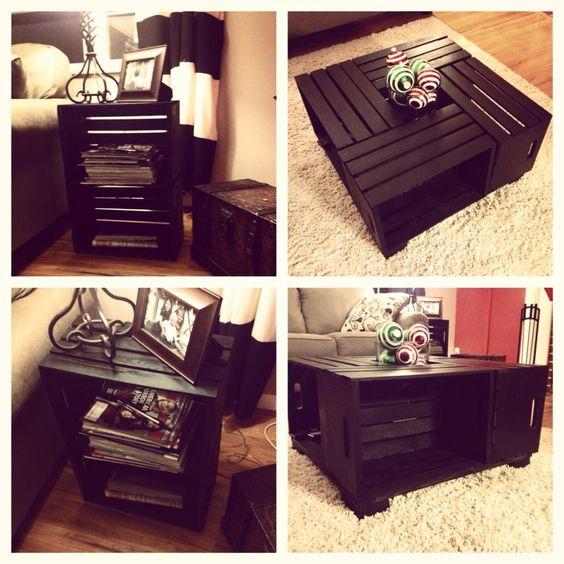Tavolini fai da te con cassette di legno! 20 idee creative...