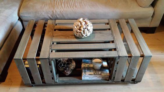 Tavolini fai da te con cassette di legno
