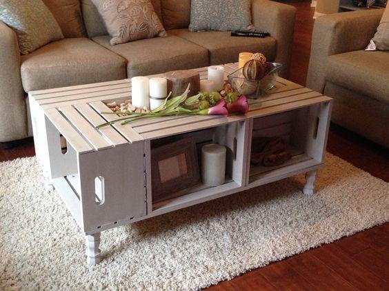 Tavolini In Legno Fai Da Te : Tavolini fai da te con cassette di legno idee creative