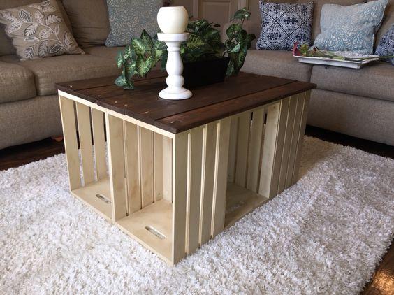 tavolini fai da te con cassette di legno 20 idee creative. Black Bedroom Furniture Sets. Home Design Ideas