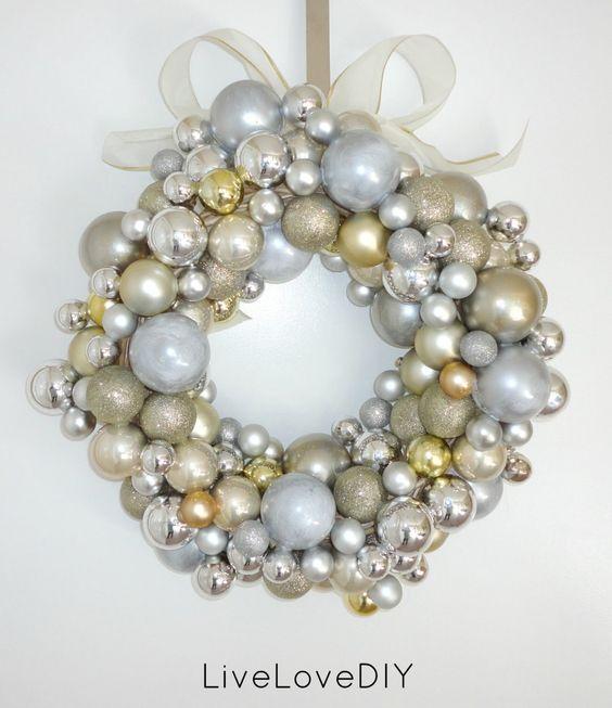 Bellissime decorazioni con palline di Natale