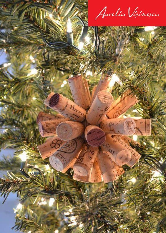 Decorare lalbero di Natale con i tappi di sughero! Ecco 20 idee + ...