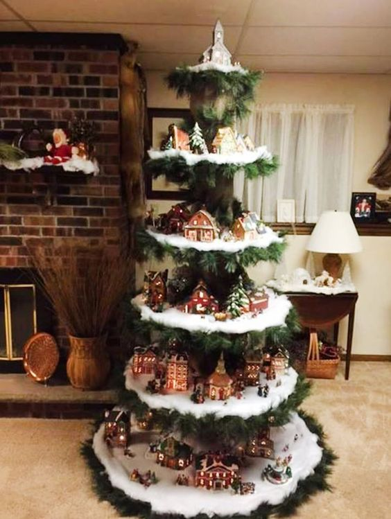 Creare Foto Di Natale.Un Villaggio Nel Tuo Albero Di Natale 15 Esempi Bellissimi