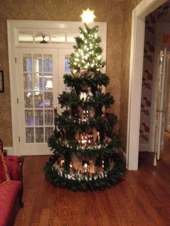 create a village in christmas tree idea 14 - Christmas Tree Village