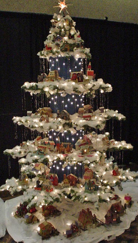 Un villaggio nel tuo albero di Natale