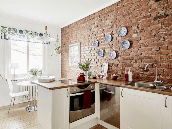 Mattoni a vista di colore rosso per decorare casa! 20 idee per ispirarvi...