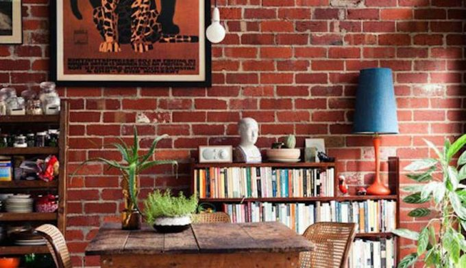Mattoni a vista di colore rosso per decorare casa 20 idee - Decorare muri interni ...
