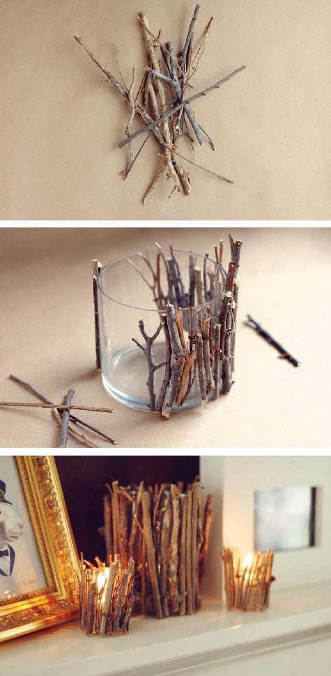 Ecco 20 splendide composizioni natalizie con legnetti for Composizioni natalizie in vasi di vetro