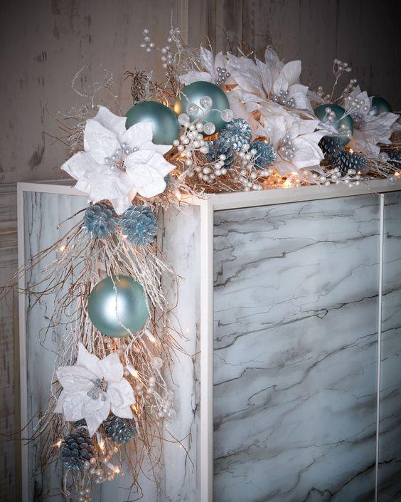 Idee addobbi natalizi turchese 15 ideadesigncasa - Addobbi natalizi da giardino ...