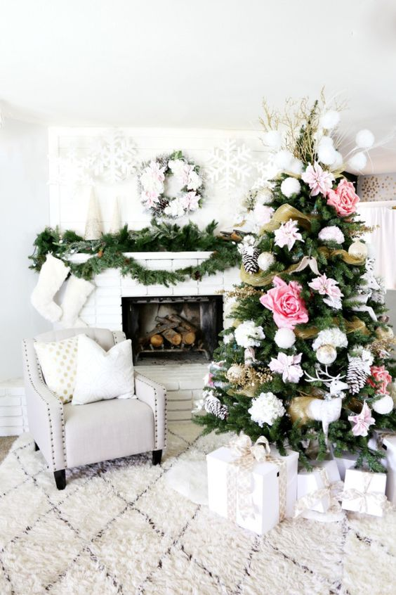 decorare il natale in stile shabby chic 20 idee per ispirarvi. Black Bedroom Furniture Sets. Home Design Ideas