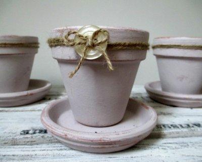 Vasi di terracotta shabby chic fai da te 20 idee tutorial - Vasi decorati fai da te ...