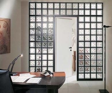 Utilizzi originali del vetrocemento dentro casa 20 idee for Pareti divisorie vetrocemento