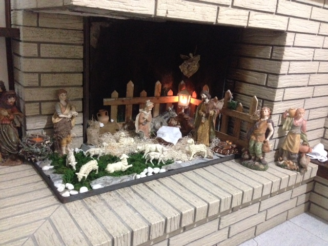 Favorito Create the Christmas crib in the fireplace! 15 beautiful examples  CP12