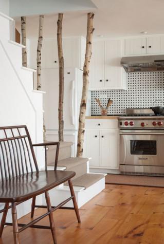 Decorazioni con alberi e tronchi ecco 20 esempi for Decorazione entrata casa