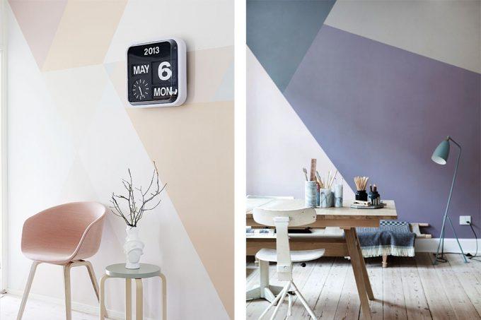 Dipingere le pareti di casa in modo creativo 20 idee - Idee per pitturare le pareti di casa ...