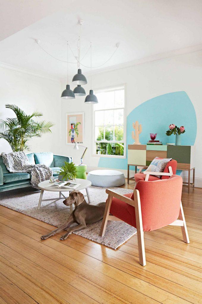 dipingere parete casa design 8