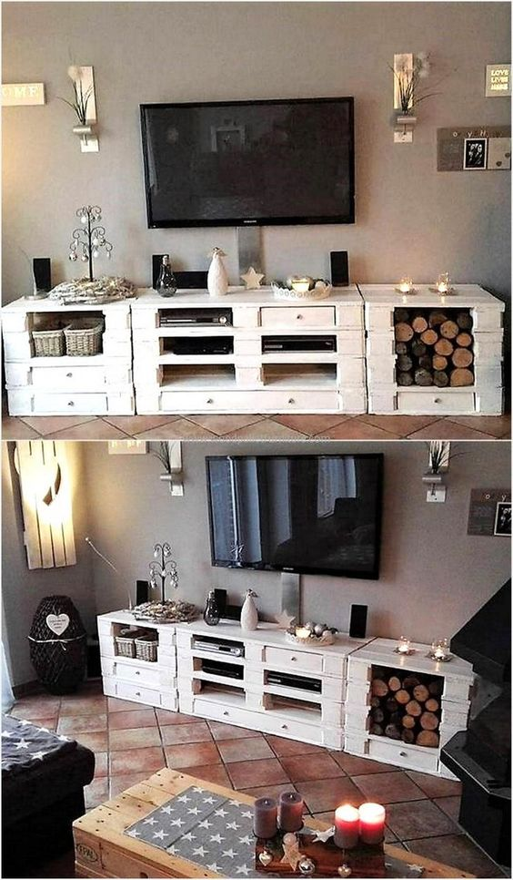 original furniture with pallets! 20 ideas + video tutorial ... - Mobili Pallet Interior Design