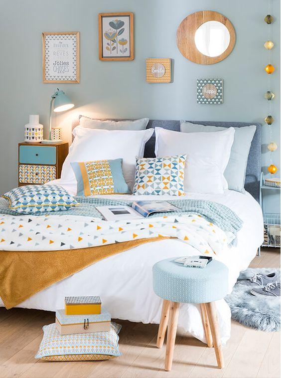Camera da letto con colori pastello! Ecco 20 idee per ispiravi...
