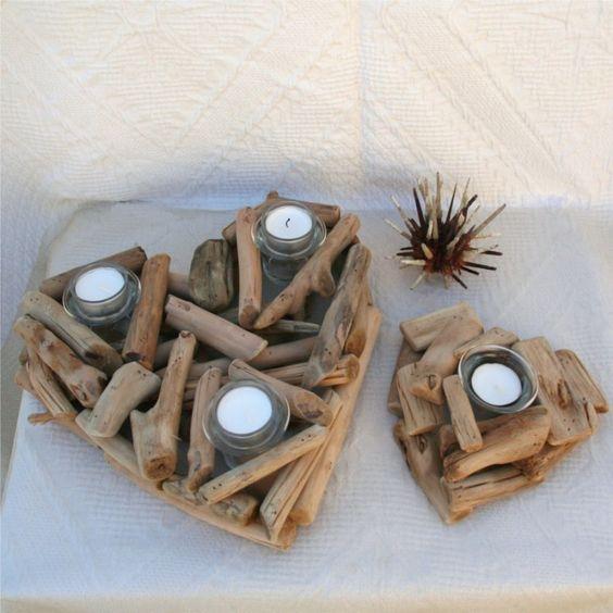 Lavoretti fai da te con legno di mare 20 splendide idee - Decorazioni natalizie legno fai da te ...