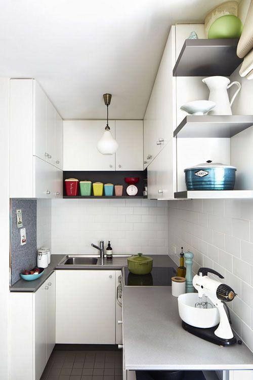 Decorar una cocina larga y estrecha... ¡Aquí están 20 ejemplos para ...