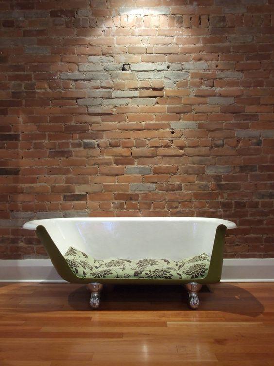 La vecchia vasca diventa divano 20 esempi video tutorial - Recupero mobili vecchi ...