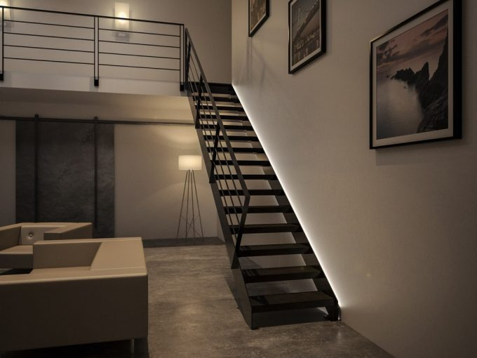 Illuminare le scale con le luci a led ecco 20 idee design for Illuminazione a led