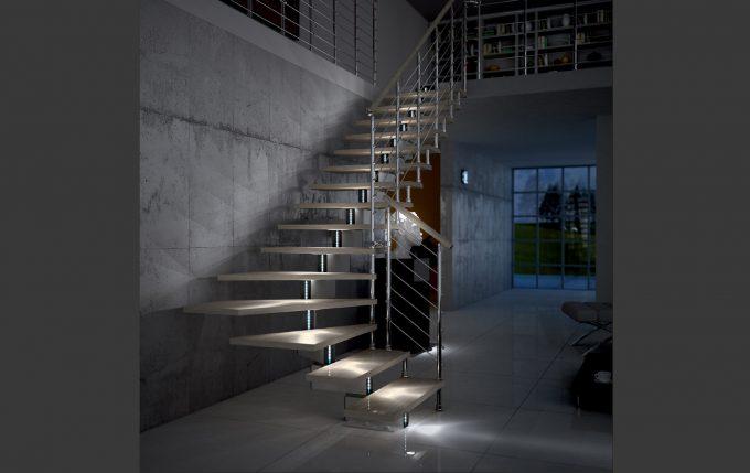 idee illuminazione scale con led 15