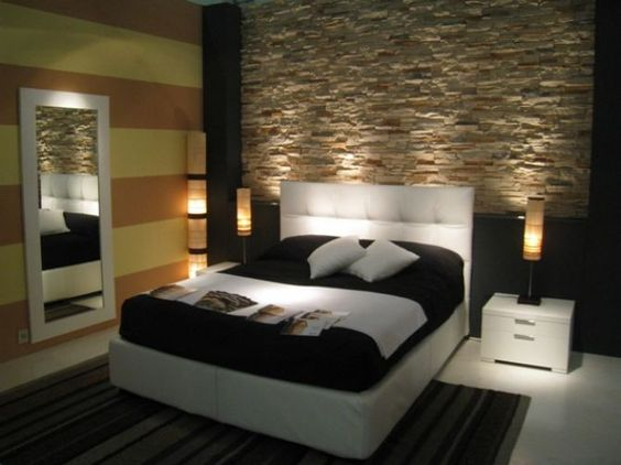 Decorate a wall with stones in the bedroom! 20 ideas to inspire ...