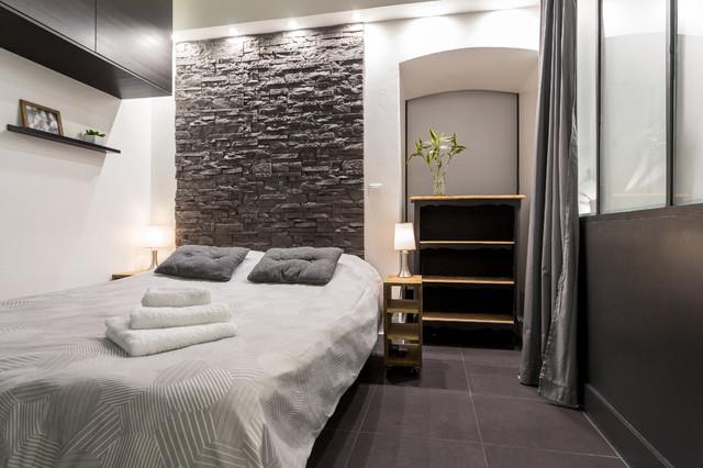 Decorare una parete con le pietre in camera da letto! 20 ...
