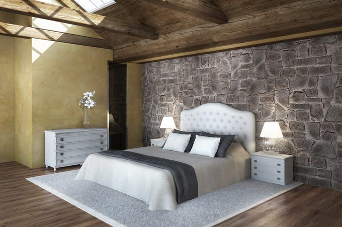 Decorare una parete con le pietre in camera da letto 20 for Decorare la propria stanza fai da te