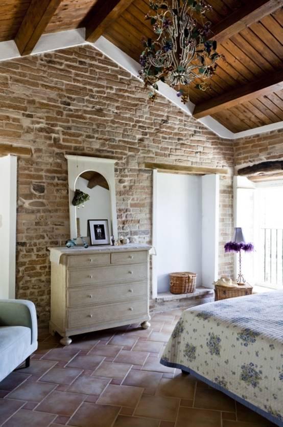 Decorare una parete con le pietre in camera da letto 20 - Decorare un muro ...