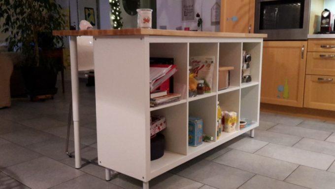 idee scaffali IKEA isola cucina 1