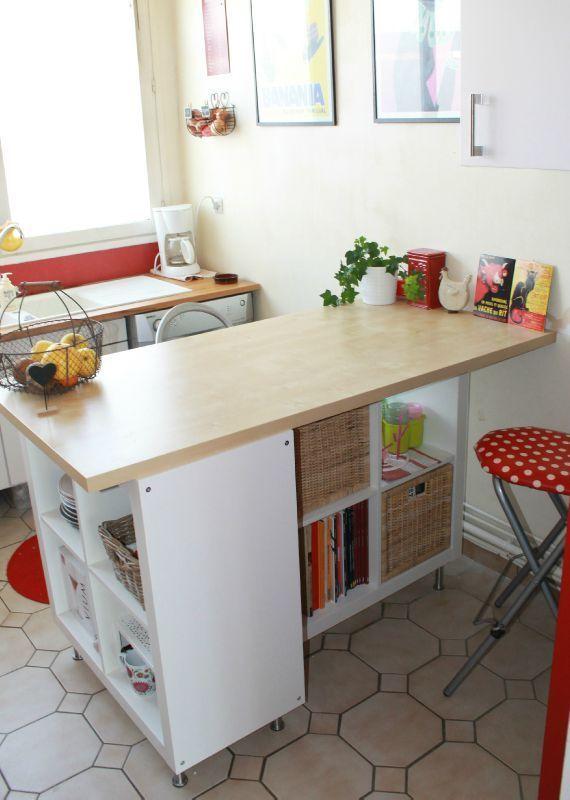 Trasformare uno scaffale ikea in un isola per la cucina - Ikea barra cucina ...