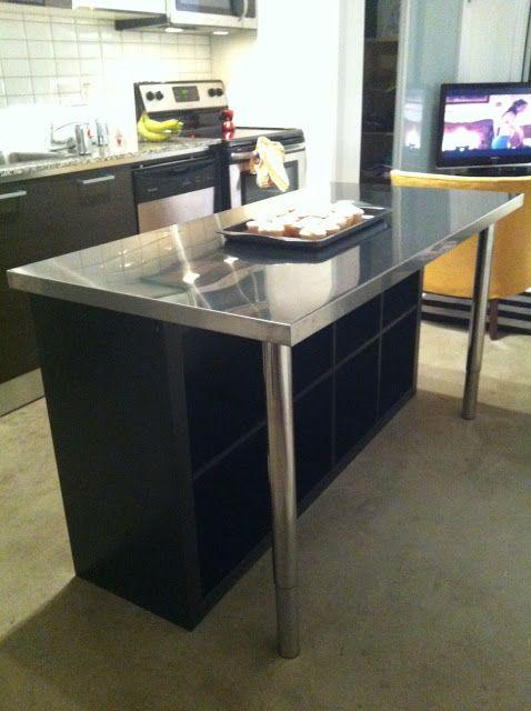 idee scaffali IKEA isola cucina 13