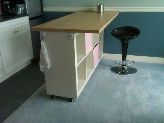 idee scaffali IKEA isola cucina 14