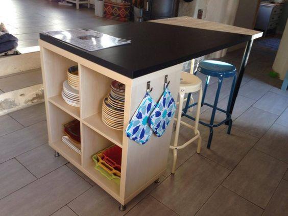 idee scaffali IKEA isola cucina 15