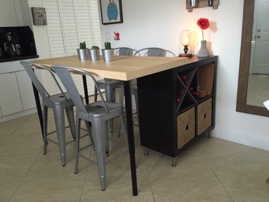 trasformare uno scaffale ikea isola cucina. aihook ferro ...