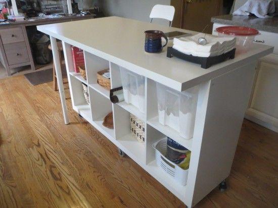 idee scaffali IKEA isola cucina 7