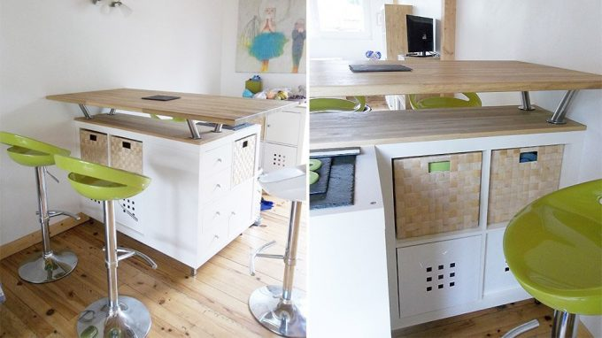 Ikea Isola Cucina.Ikea Cucine Trasformare Uno Scaffale Ikea In Un Isola Per